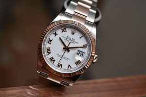 he Datejust has been going strong since its launch in 1945. The model we are looking at here is a Rolesor.