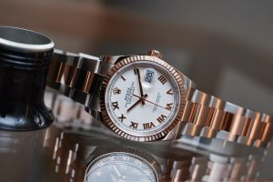 the term Rolex gives to watches that combine gold and steel. First introduced on the Datejust model in 1948.
