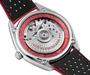Running the very outer edge of the dial is a pulse reader color-matched to the seconds hand