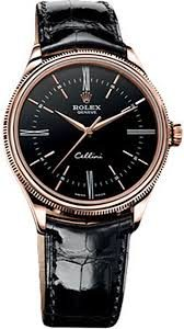 The round shape and classic 39 mm diameter of the Cellini Time are marks of tradition